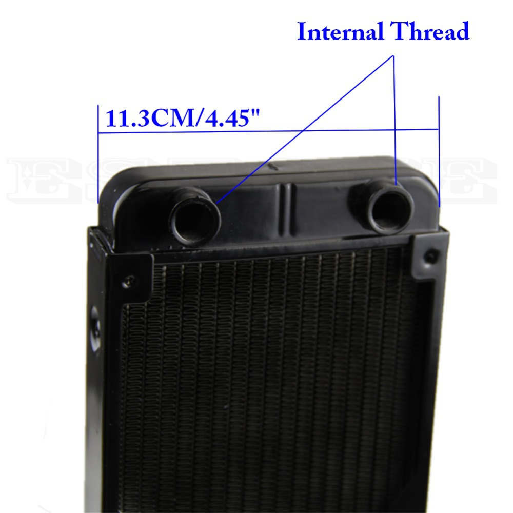 ФОТО HOT  Hot 360mm Aluminum Computer Radiator Water Cooling Cooler for CPU LED Heatsink