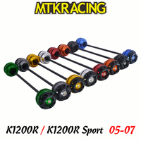 MTKRACING For BMW K1200R 05 06 07 K1200R Sport 07 CNC Motorcycle Front rear wheel Axle Slider shock absorber Falling Protection