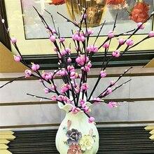 12 köpfe/Zweig Pflaume kirschblüten Künstliche Seide blumen Sakura baum niederlassungen Home tisch wohnzimmer DIY Hochzeit Decor