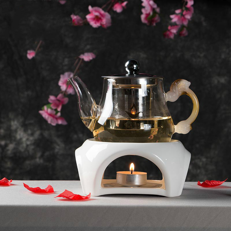 Japanese Style Ceramic Teapot Trivets Alcohol Candle