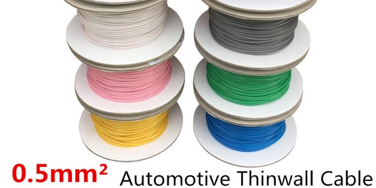 5 Meters/lot 0.5 MM2 Auto Cable 12/24V 16/0.2mm Stranded Copper Single Core Thinwall Car Boat Van Vehicle Wire Connection Wire датчик lifan auto lifan 2