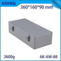 Aluminum Waterproof Connectors Distribution Box for Electronics Diy Design Weatherproof Project Case 360x160x90mm Outdoor Use