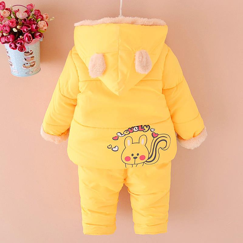 aece8c6f547b NEW Baby Set 2018 Winter BABY Girl clothes Cartoon coat Thick Warm ...