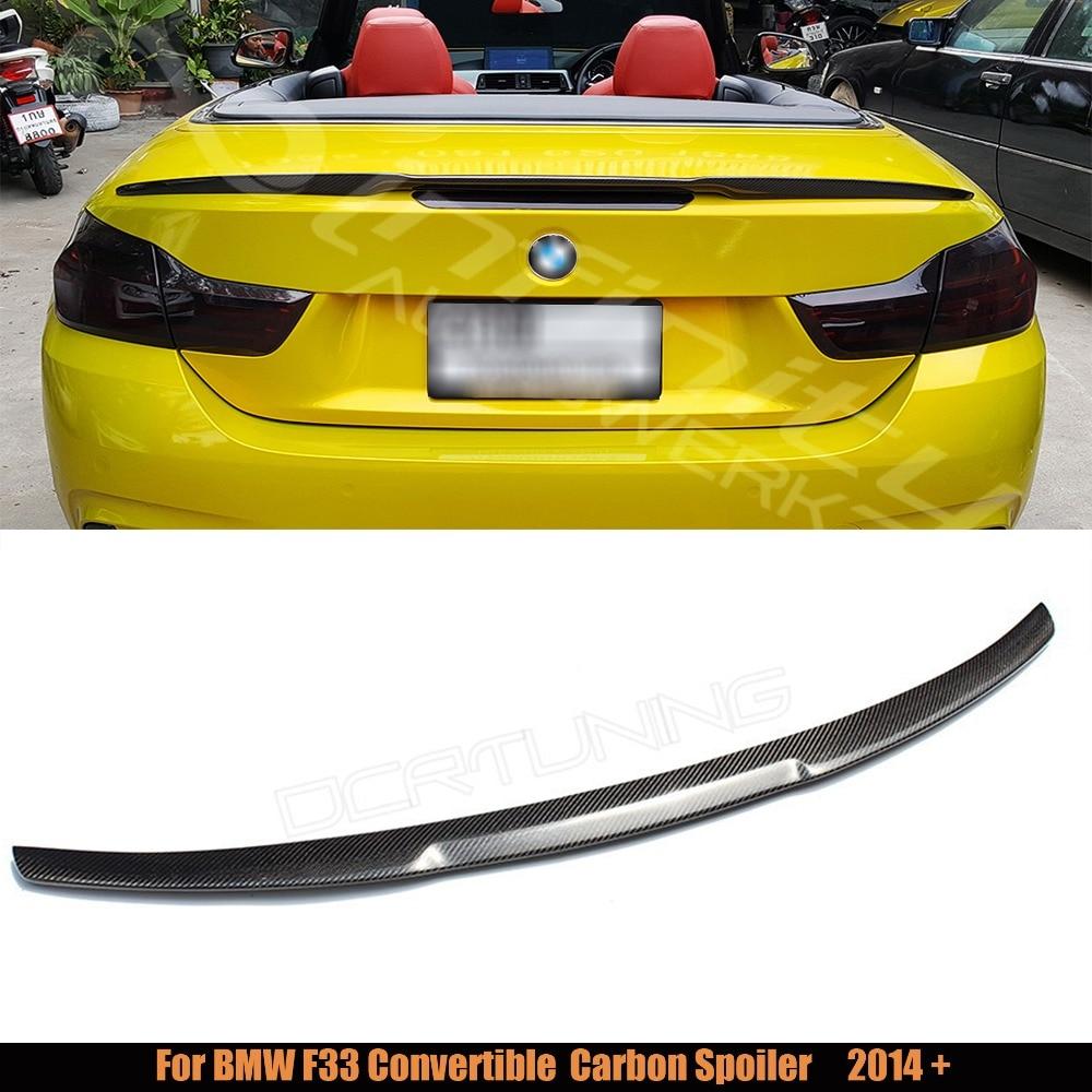 For BMW F33 Convertible 4 Series 420i 428i 435i M4 Style F83 M4 Carbon Fiber Rear Trunk Spoiler 2014 2015 2016 - UP F33 spoiler for mercedes w213 spoiler e class 4 door sedan e200 e220 e250 e300 carbon fiber rear trunk spoiler wings e63 style 2016 up