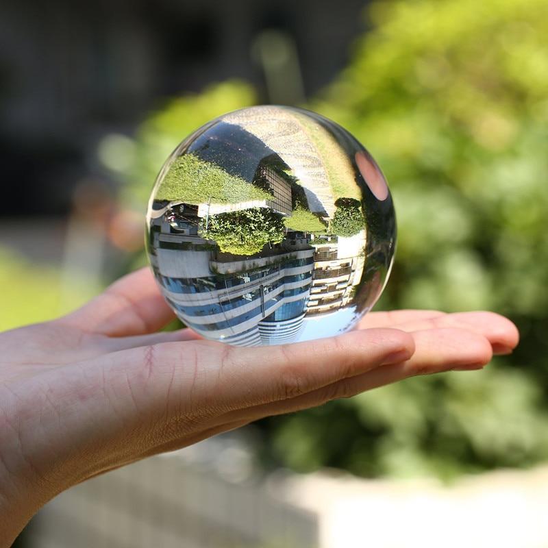 50mm/60mm/70mm/80mm/100mm bola de cristal fotografía Asian Quartz Glass Marbles Sphere Clear Globe Props fotografía Accessiores