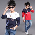 2016 Fashion Spring Autumn Children Animal T Shirts For Boys Long Sleeve T-shirts Size 5-14 Child Clothings Kids Tops Tees