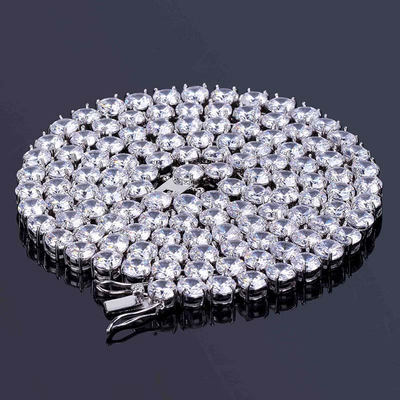 Rapper Hip Hop Mens Necklace Bling Iced out CZ Rhinestone 6MM Tennis Chain Necklace Fashion Jewelry DropshippingRapper Hip Hop Mens Necklace Bling Iced out CZ Rhinestone 6MM Tennis Chain Necklace Fashion Jewelry Dropshipping