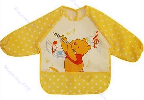 Hot New Cute Children Baby Todder Waterproof Long Sleeve Art Smock Bib Apron