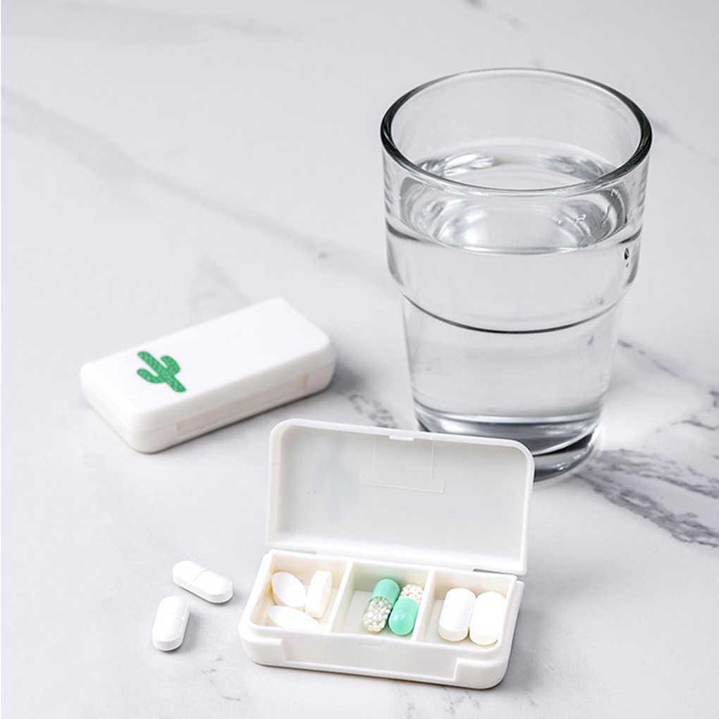 Portátil mini pílula caso caixas 3 grades viagem casa comprimidos recipiente casa titular casos caixa de armazenamento
