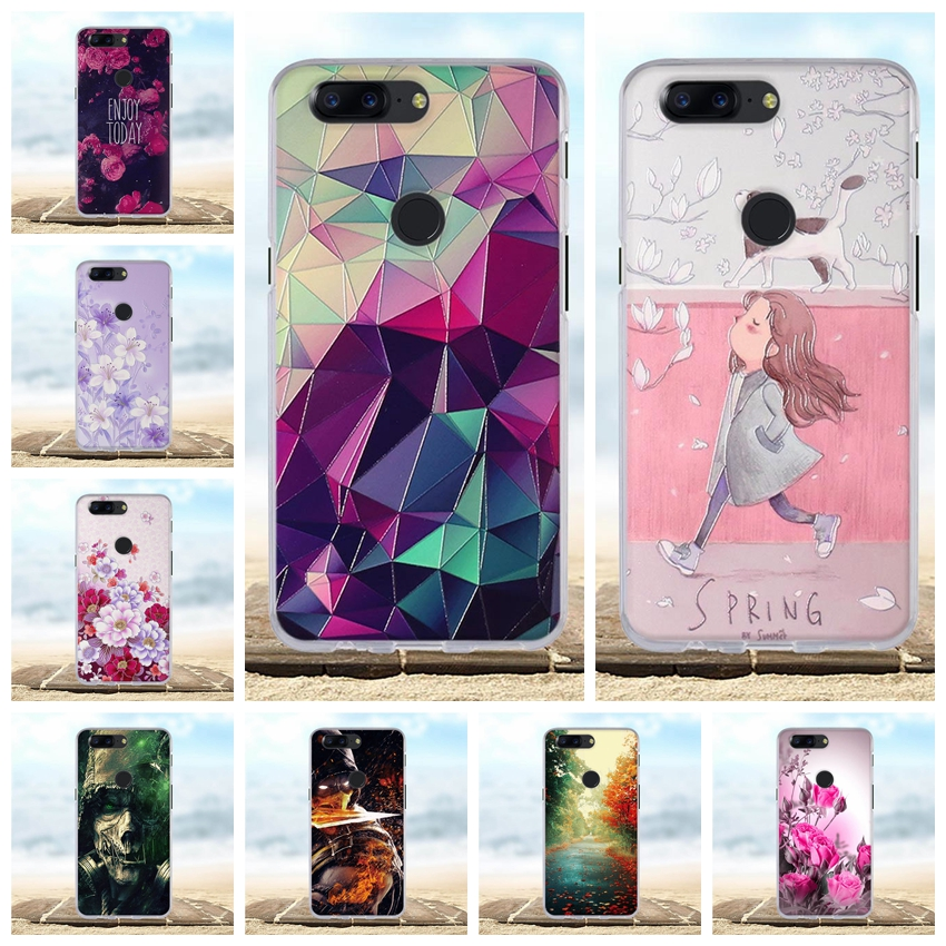 3D Flower Case For OnePlus 5T 6.01 Case Cover Soft TPU Silicone For One Plus 5T Funda OnePlus 5 T 1+5T Phone Cases Capa Coque