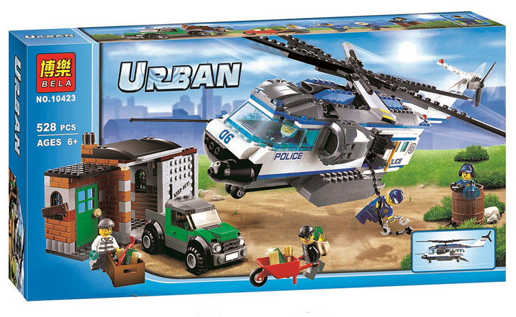 528pcs Helicopter Surveillance Police Set Building Bricks Blocks Toy Gift Lepin City 60046 Compatible With Lego lepin 02012 city deepwater exploration vessel 60095 building blocks policeman toys children compatible with lego gift kid sets