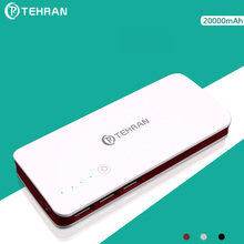 20000 mAh Real Capacity Slim Power Bank for iphone Triple USB Port 5V2A Output Mobile Phone External Battery Pack Shipping Free