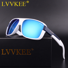 LVVKEE New Men's Polarized Sunglasses Coating Driving Sun Glasses Men Women Original Brand Logo uv400 transparent Frame Eyewear