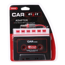 Ootdty 3.5mm carro aux áudio fita cassete adaptador conversor para carro cd player mp3-m15