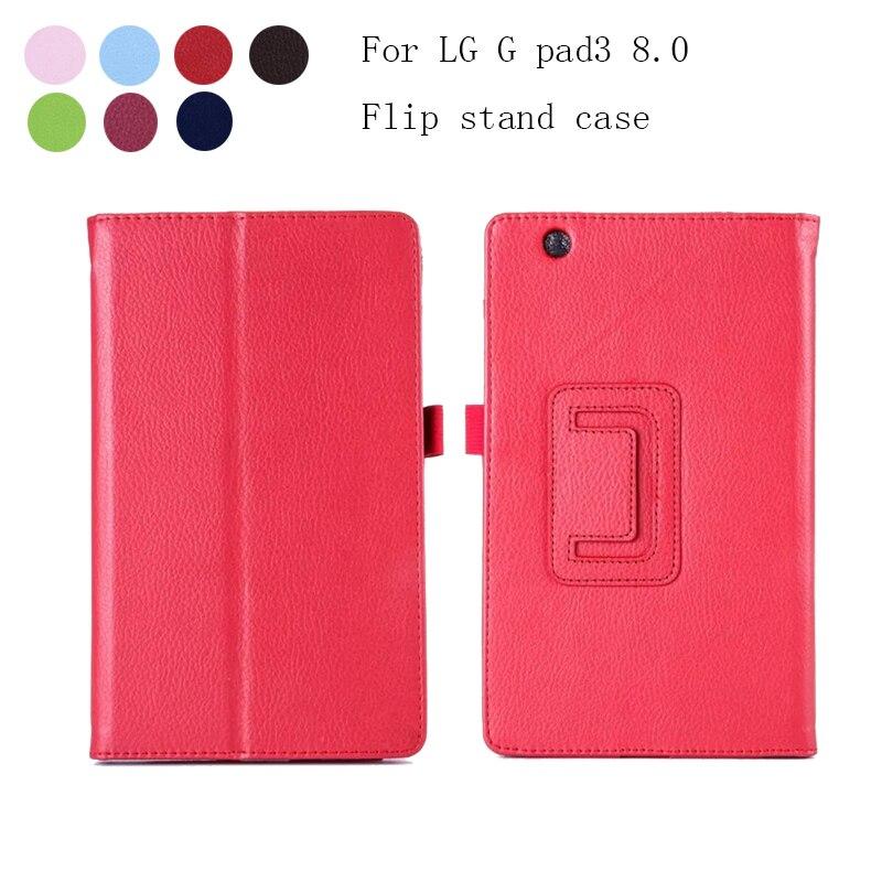 New Case For LG G pad 3 8.0 V525 V521 V520 Flip PU Leather Stand Case Back Cover for LG Gpad 3 iii 8.0 V525 tablet case