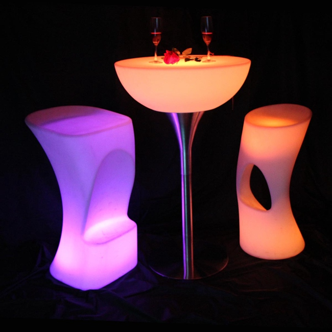 Led Bar Furniture Illuminated Lighting Bar Table For Indoor Or Outdoor SK-LF20 (D66*H110cm) 2pcs/Lot