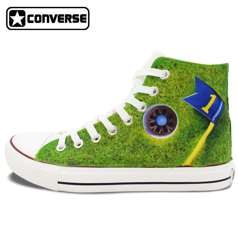 Unique Sneakers font b Men b font Women Converse Chuck Taylor Golf Original Design Hand Painted