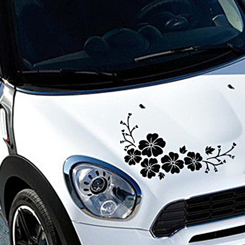 Autocollants 2017 авто наклейки на цветы DIY эмблема кузова автомобиля значка автомобиля для укладки 17*30 автомобиль-крышки см личность аксессуары