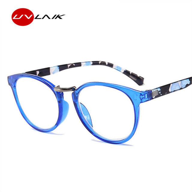 UVLAIK Spring Hinge Cat Eye Reading Glasses Frame Women Vintage Printed Legs Presbyopic Eye Prescription Eyeglasses Frames