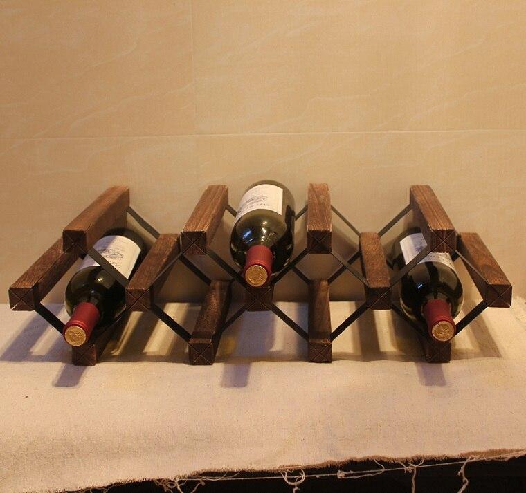 Древесина павловнии винный шкаф с лаком поделки собраны 7 бутылка японский Стиль держатель вина Дисплей подходит для дома, отель и бар