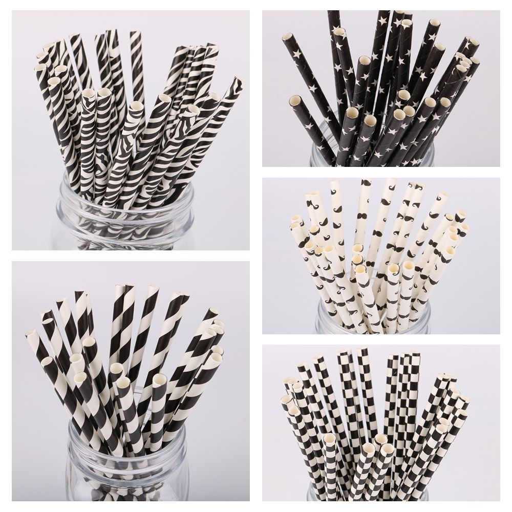 Event & Party 25pcs Zebra Pattern Drinking Paper Straws Baby Shower Decoration Gift Birthday Wedding Theme Party Supplies Favors Festive & Party Supplies