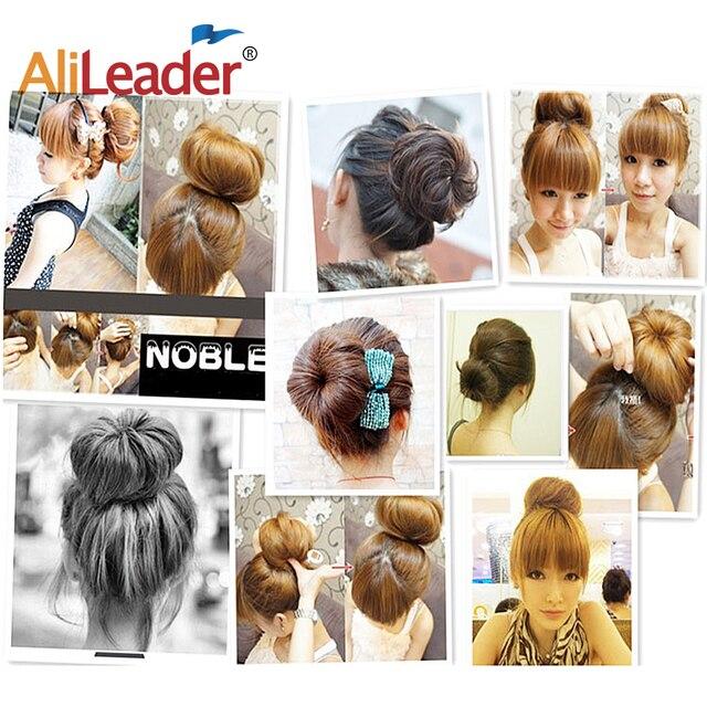 Alileader Hot Fashion Magic Hair Bun Maker Accesories Chignon Magique Hair Donut Bun For Women Hair Styling Tools White/Brown 6