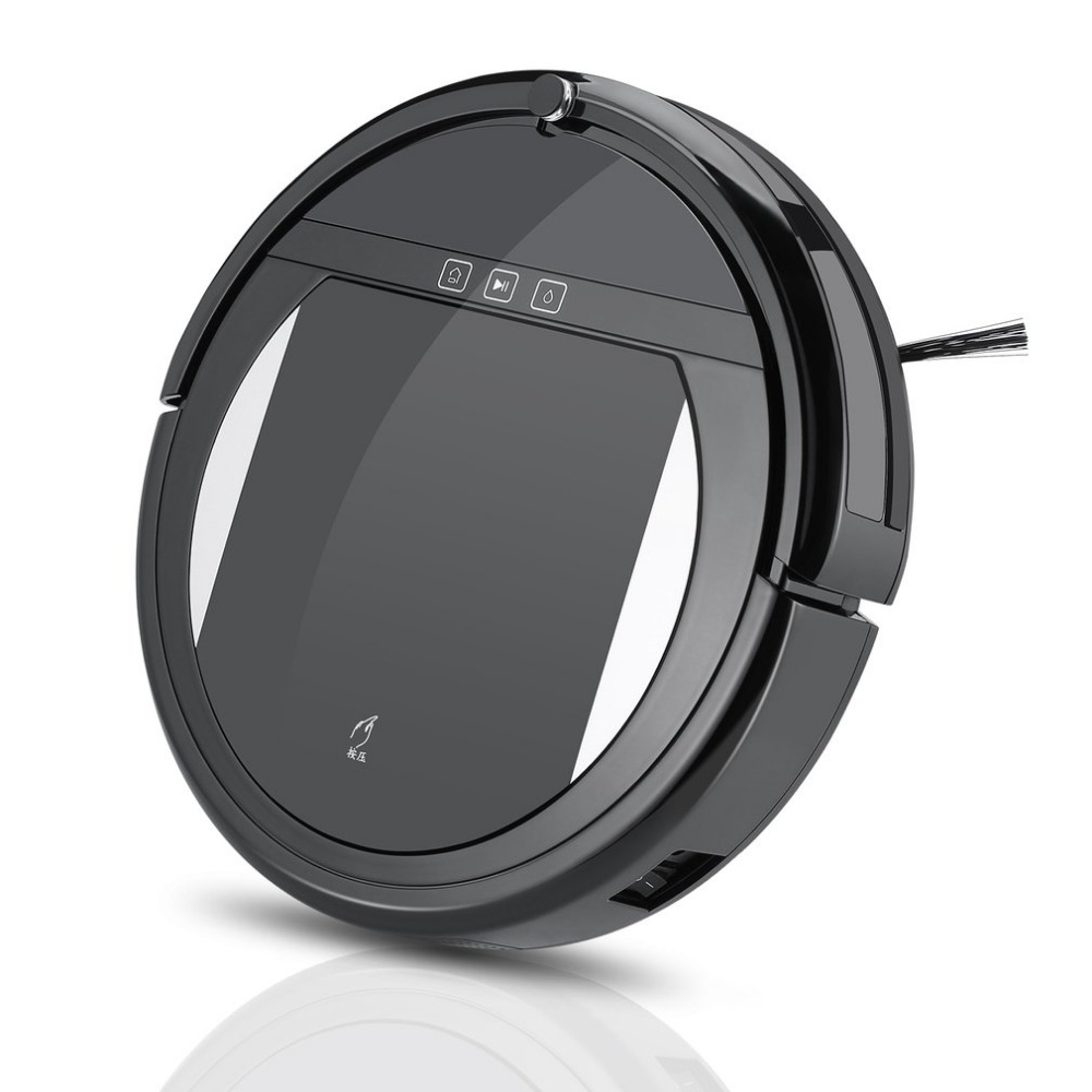 Robot Vacuum Cleaner with 1200PA Strong Suction and Remote Control Super Quiet Design Ultra-slim Body Touch Switch LCD Display vbot t272 robot vacuum cleaner home household 500pa power suction sweep machine for pet hair with remote control and mop