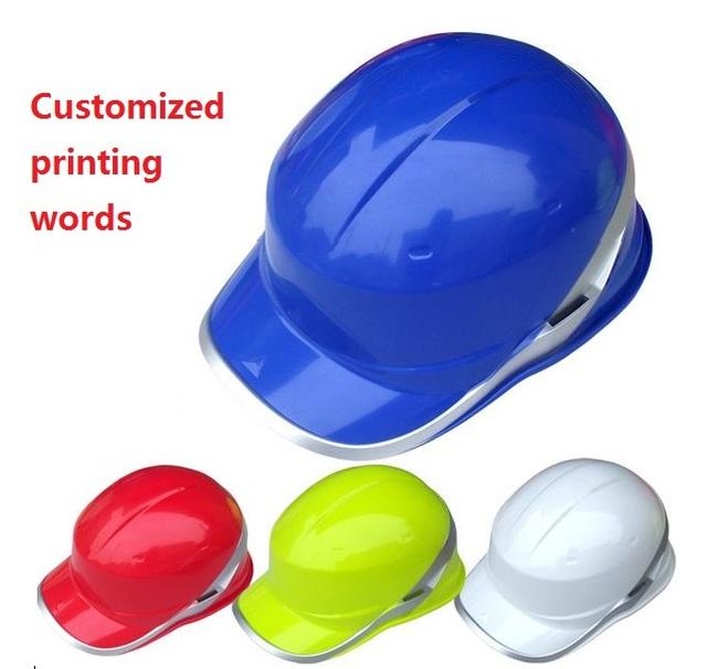Fluorescente de alta temperatura resistente boné De Beisebol capacete ABS capacetes de segurança à prova de bater