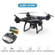 S70W GPS FPV Drone with 1080P HD FPV Wide-Angle Camera WiFi Live Video Follow Me