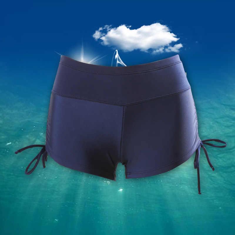 Kobiety szybkie suche wilgoć Wicking pływać Shorty spodenki letnie kobiety jest plaża Surfing stroje kąpielowe stroje kąpielowe stroje