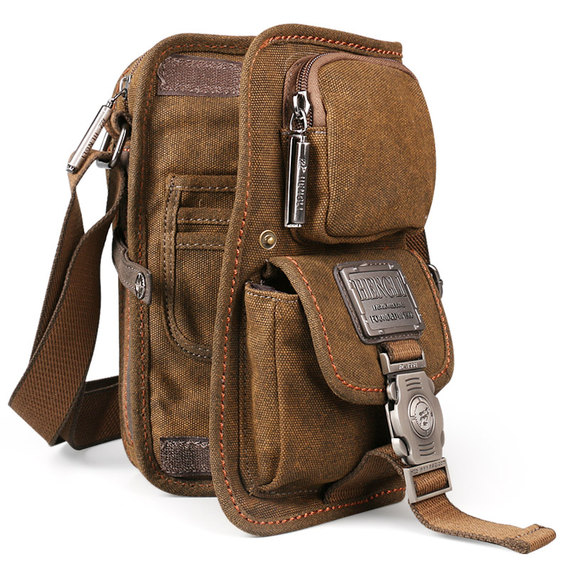 NEW Sale! 2017 canvas versatile casual shoulder messenger bags for men retro travel bag free shipping