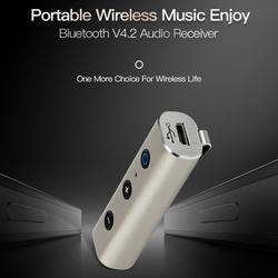 Автомобильный беспроводной Bluetooth 4,2 аудио приемник адаптер 3,5 мм AUX мини для ноутбука мобильный телефон ING-SHIPPING