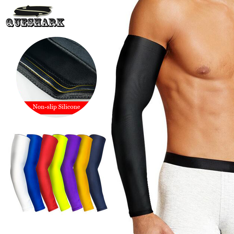 Men's Accessories Wenyujh 1pcs Breathable Quick Dry Arm Sleeves Uv Protection Compression Running Basketball Elbow Pad Fitness Sports Arm Warmers