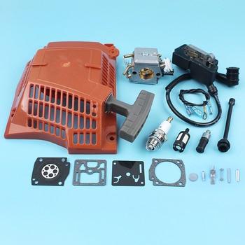 Recoil Starter Ignition Coil Carburetor Diaphragm Kit For Husqvarna 362 365 371 372 Chainsaw Fuel Oil Filter Line Spark Plug