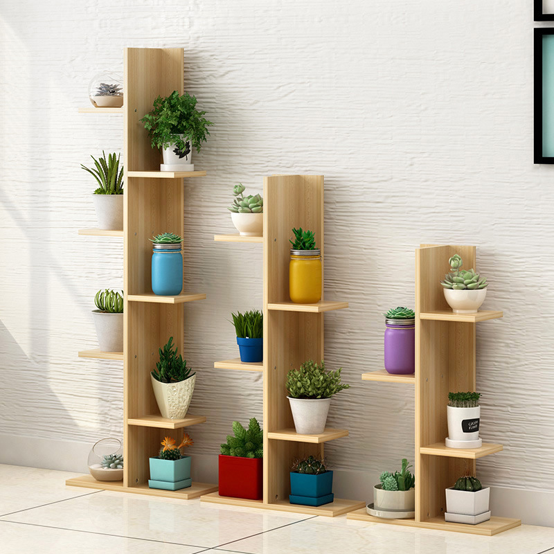 LK1705 Balcony Multi-storey Wooden Flower Shelf Floor Stand Pot Holder Indoor Living Room Green Plant Flower Rack стоимость