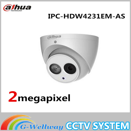 Dahua Built-in Mic 2mp Starlight IR Eyeball Network Camera Without logo IPC-HDW4231EM-AS,free DHL shipping