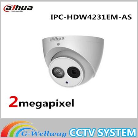 Dahua Built-in Mic 2mp Starlight IR Eyeball Network Camera Without logo IPC-HDW4231EM-AS,free DHL shipping dahua 2 7mm 12mm motorized lens 2mp wdr ir eyeball network camera ipc hdw5231r z free dhl shipping