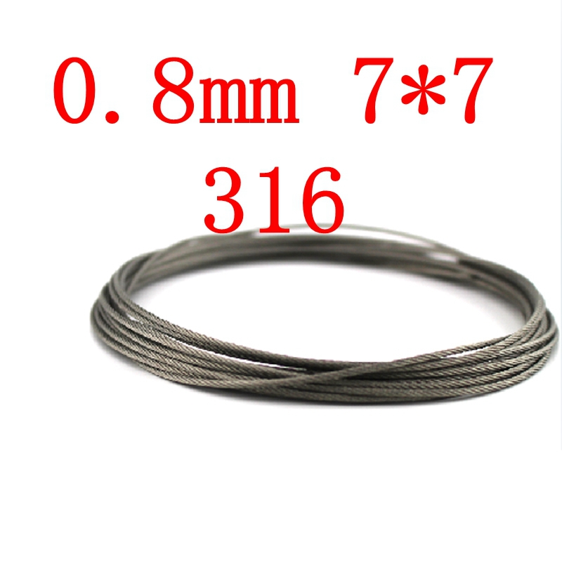 0.8mm 7*7 Authentic Marine Seaworthy Grade 316 316L Stainless Steel Wire Rope,Stainless Steel Cable plus size spaghetti straps tie dye tank top