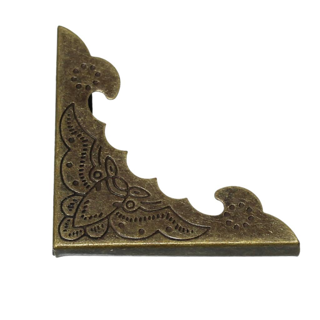 Book Scrapbooking Albums Menus Folders Corner Protector Antique Bronze Flower Pattern 4cm x 4cm,30 PCs 2016 new цвет верблюжьей шерсти 26cm x 18cm x 4cm