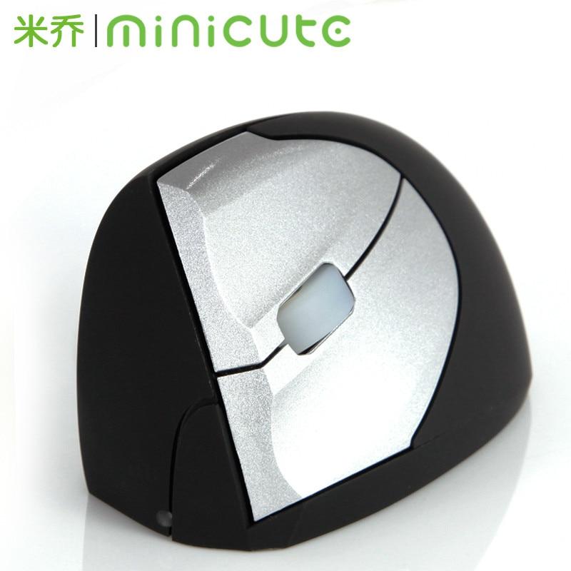 Minicute ergonomique manuel Vertikal EZMouse2 Gaming sans fil 2400 dpi Laser Heilung Handgelenk souris pour die linke main