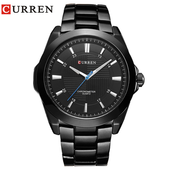 CURREN Fashion Creative Dial Watches Classic Business Full Steel Band Wristwatch Waterproof Quartz Male Clock Relogio Masculino - discount item  44% OFF Men's Watches
