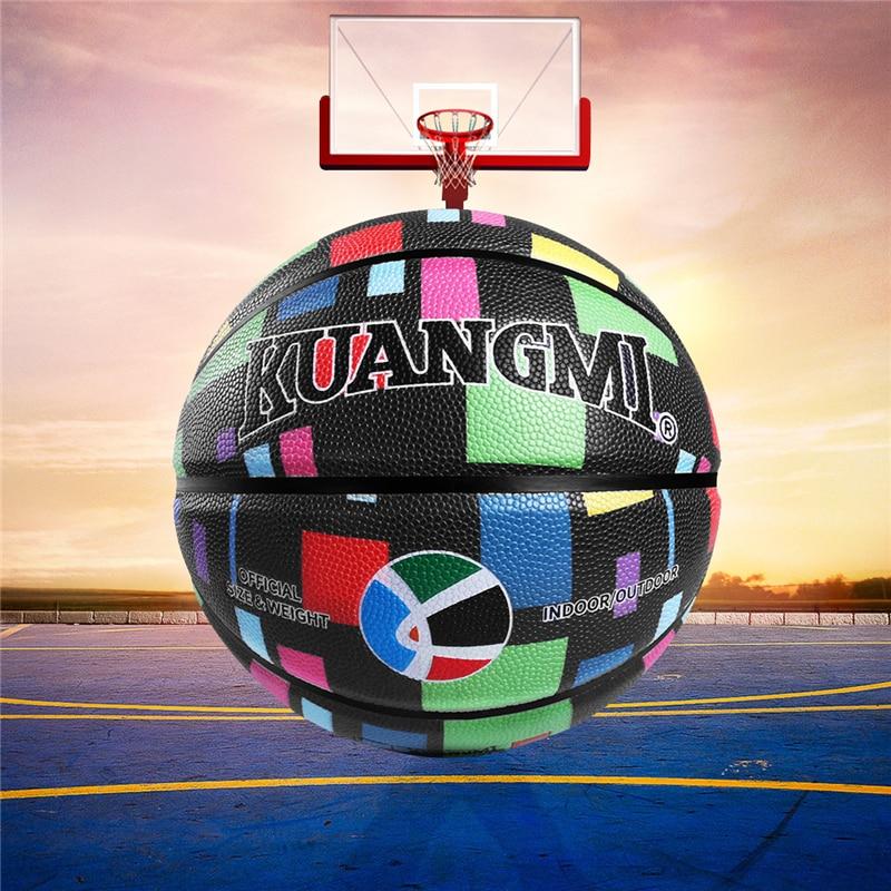 Ballon de basket-Ball matériel PU taille officielle 7 intérieur et extérieur mâle féminin jeu de basket-Ball sport