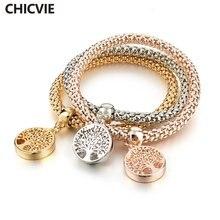 Женский браслет в стиле бохо chicvie Круглый ручной работы для