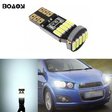 BOAOSI 1x T10 W5W CANBUS LED Parking Lights Marker Lamps Bulb For Chevrolet Cruze Aveo Captiva Lacetti Sail Sonic Camaro