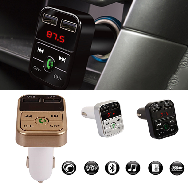Fast Charging LED Digital Display Wireless Bluetooth Receiver Bluetooth Audio Receiver FM Automobile Car Charger Universal