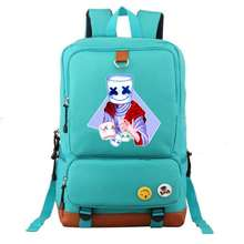 Cosplay DJ Smiley Face Fashion backpacks for teenage Outdoor Travel bag Red scarf backpack For Kids School Backpack Big