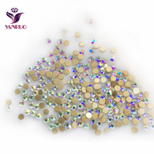 Free shipping ss6 crystal AB color round shape flat backs no hotfix rhinestones