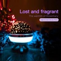 2018 New Wood Bracket Stars Starry Sky LED Night Light Projector Moon Colorful Night Lamp Battery USB LED Light Christmas Gift