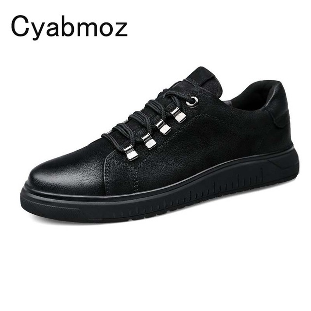 Cyabmoz Brand 2018 Invisible Elevator Shoes For Men Height Increase 5cm Breathable Casual Men's Genuine Leather Shoes