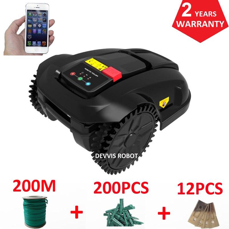 Europe entrepôt Robot tondeuse à gazon E1800S pour petit jardin, Smartphone WIFI APP contrôle, chargeur étanche, Recharge automatique
